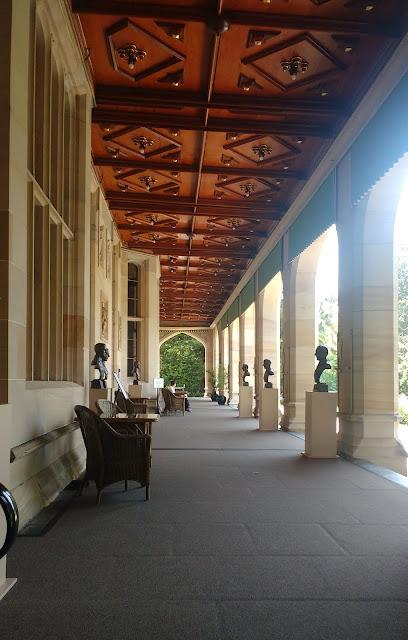 Photo of verandah of Sydney Government House
