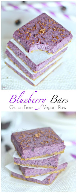 BLUEBERRY BARS (RAW VEGAN GLUTEN FREE) RECIPES