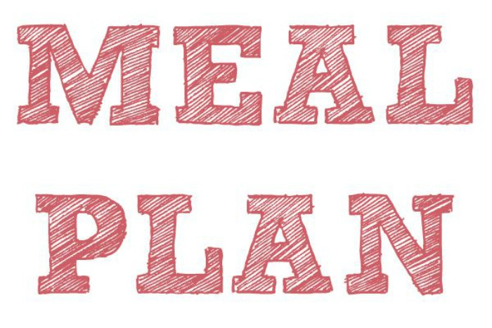 Meal Plan 21st - 27th November 2016