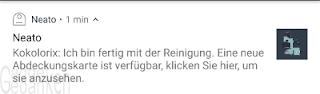 Android Benachrichtigung: Reinigung abgeschlossen