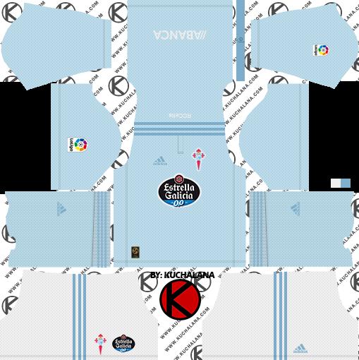 Celta Vigo 2018/19 Kit - Dream League Soccer Kits