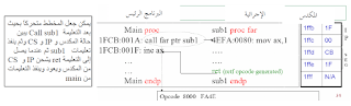 تعليمات الإزاحة - شرح المعالج 8086