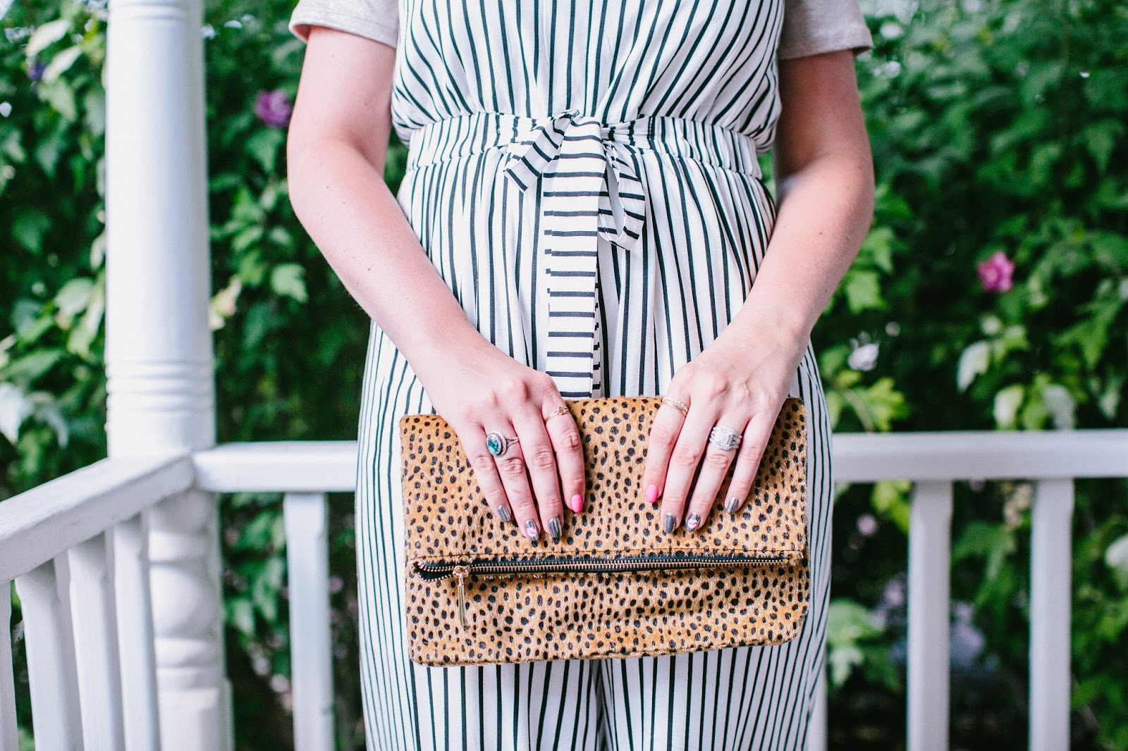 Leopard Clutch, Leopard Print, Stripes