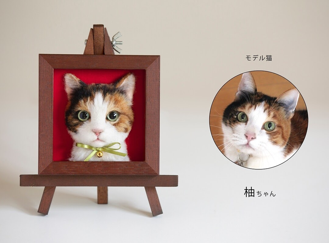 07-Wakuneco-Wool-Needle-Felt-Cat-Portraits-and-Video-Demonstration-www-designstack-co