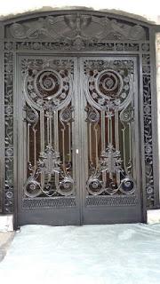 Pintu, Pintu Besi, Pintu Besi Tempa, Pintu Head Besi Tempa, Pintu Pagar Klasik, Pintu Hek,