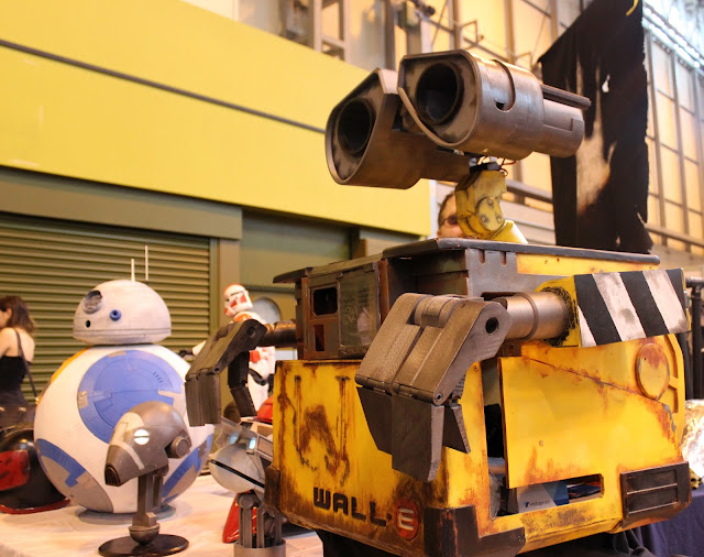 Wall-E and BB8 models - UK Games Expo 2016