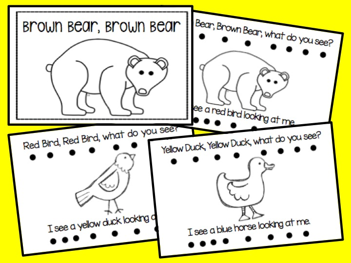 Brown Bear book Free retelling activity from Time4Kindergarten