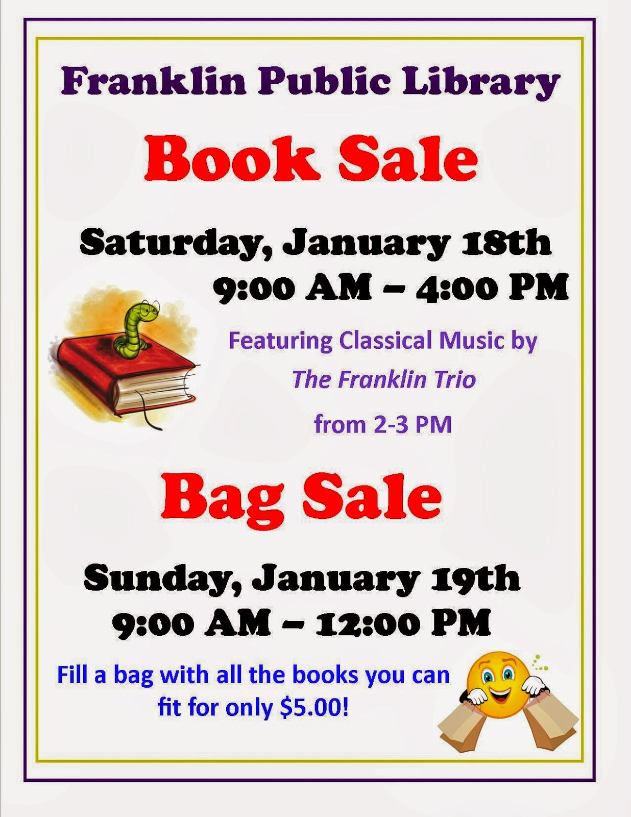 Library Book Sale - Jan 18th