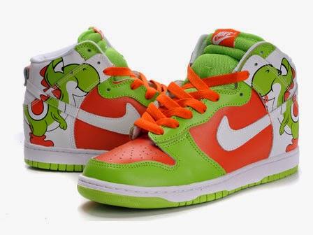 promo code b6eb3 e57cb Colorful High Tops Nike Dunk Cartoon Yoshi Sneakers