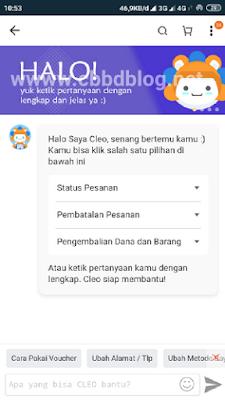 menghubungi live chat lazada