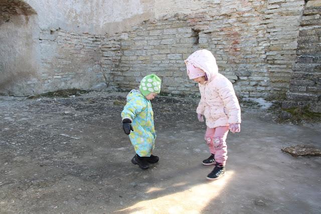 Rakveren linnoitus lasten kanssa