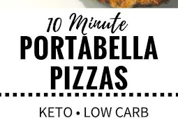 Low Carb Portabella Pizzas Ready in 10 Minute