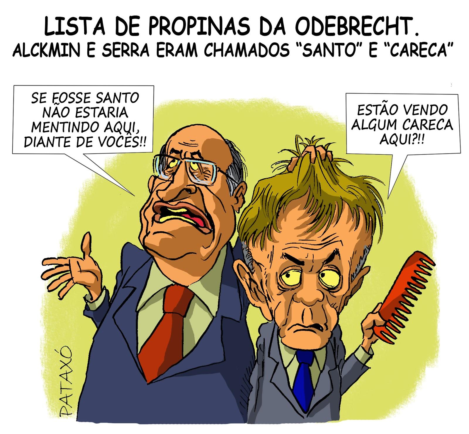 Resultado de imagem para alckmin santo charges