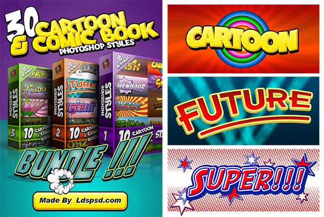 Download 30 Free Cartoon & Comic Book Photoshop Styles by Saltaalavista Blog