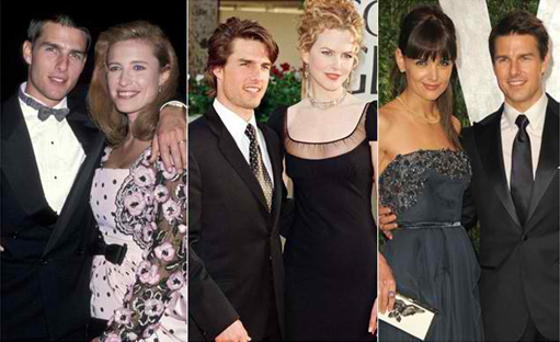 Katie Holmes, Nicole Kidman and Mimi Rogers with Tom Cruise