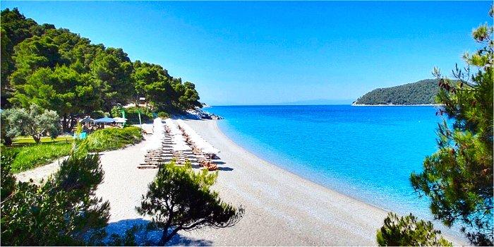 Spiaggia Kastani Skopelos Grecia