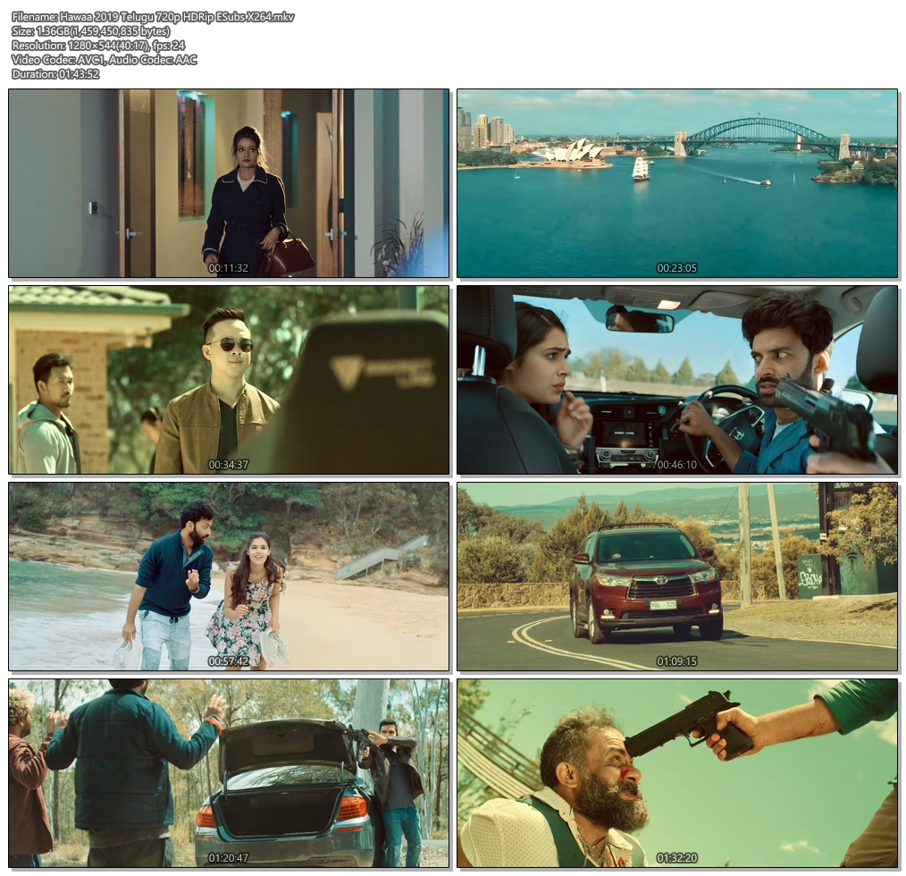 Hawaa 2019 Telugu 720p HDRip ESubs x264 | 480p 300MB | 100MB HEVC Screenshot