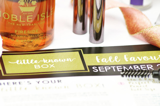 Little Known Box September 2017 Fall Favourites Review