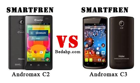 Perbedaan Smartfren Andromax C3 VS C2