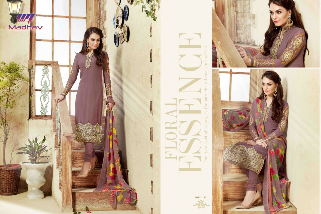 Mehar – Long Straight Designer Embroidery Salwar Kameez Buy Online