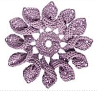 Patrón #1770: Motivo Floral a Crochet