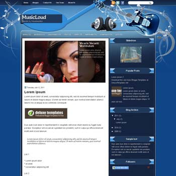 MusicLoud blogger template. template blogspot magazine style. download music template for blogger
