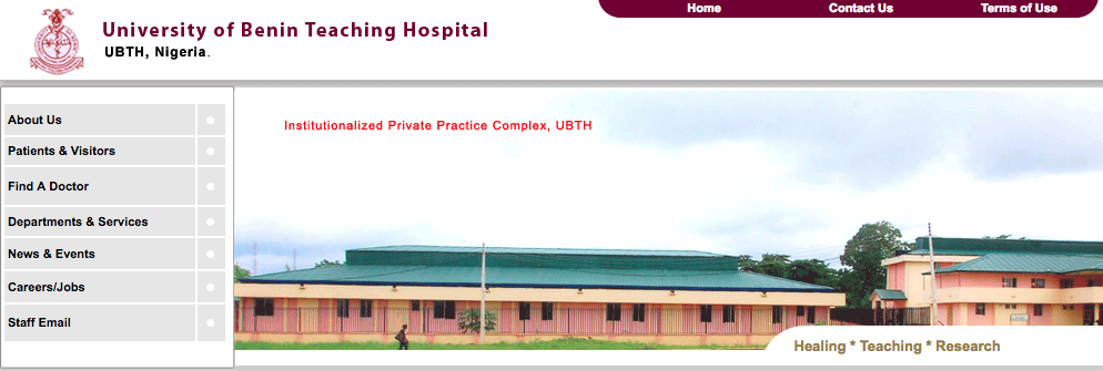 UBTH School of Health Post UTME/HND Form 2018
