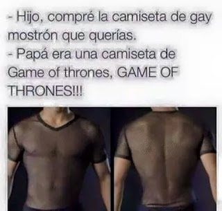 meme de humor game of thrones - gay mostrons