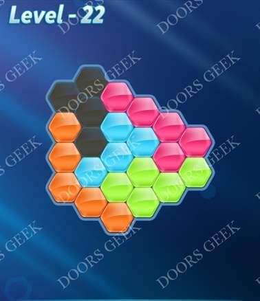Block! Hexa Puzzle [Intermediate] Level 22 Solution, Cheats, Walkthrough for android, iphone, ipad, ipod