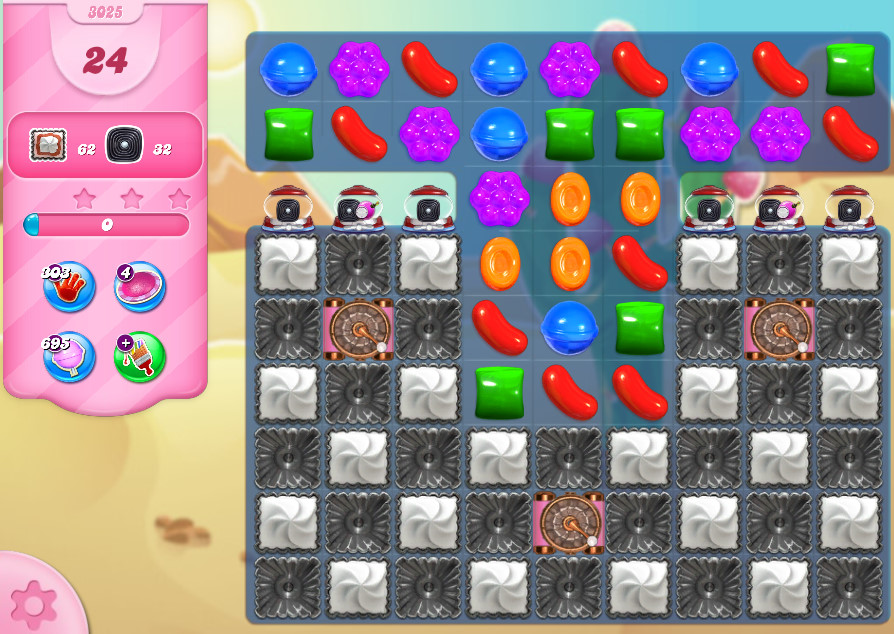 Candy Crush Saga level 3025
