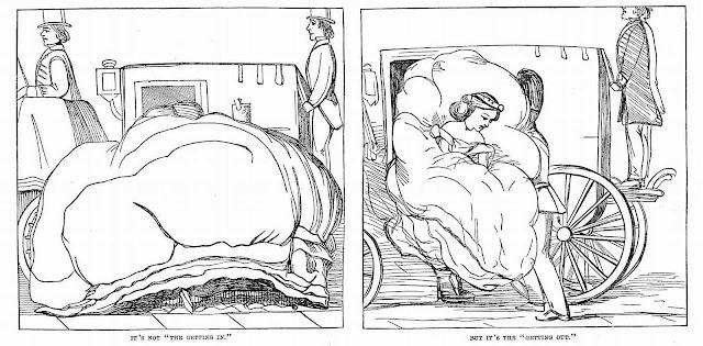 an 1864 cartoon about coach transit