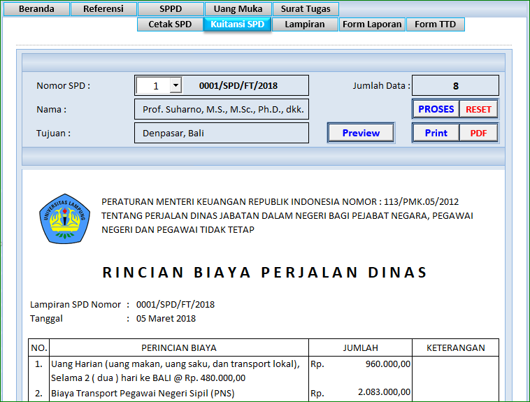 Aplikasi Excel Sppd Dan Surat Tugas Versi 2 Abi