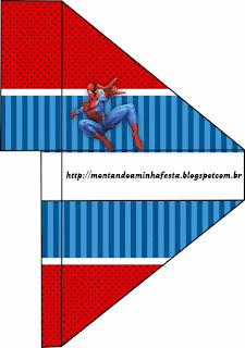 Sombrero para Imprimir Gratis de Spiderman.