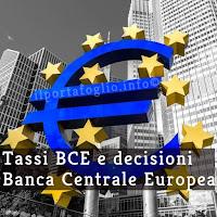 tassi banca centrale europea
