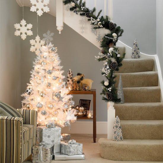 Tendência de estilo minimalista para árvore de natal