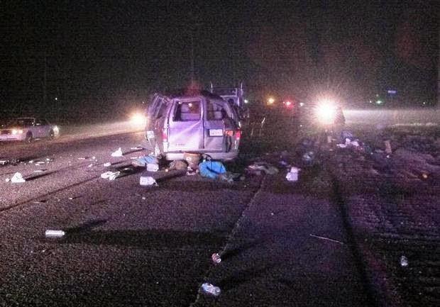 fresno county fatality astro van big rig crash farm workers american avenue