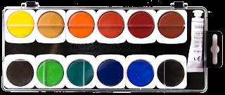 Farby prostokątne w pastylkach kohinoor