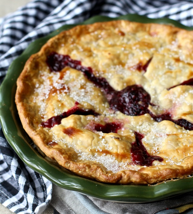 Blackberry Pie I am so thrilled with this blackberry pie! Blackberries make such a gorgeous pie filling and they don't need a lot of extra sugar.