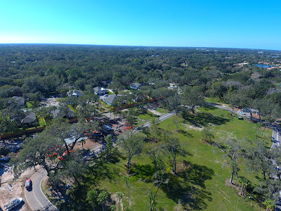 Aerial view of The Woods at Sylvan Lea in Sarasota