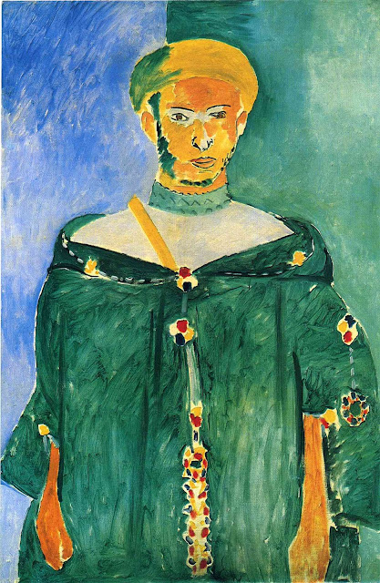 """Henri Matisse """"Stojący mieszkaniec gór Riff w zieleni"""" (1913) XX th Century Hermitage State Museum - St Petersburg"""