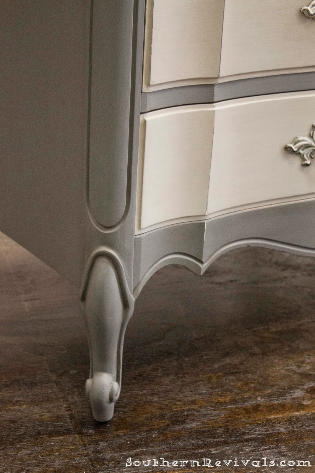 For The Love Of Two Grays Two Toned Gray Dresser Southern Revivals