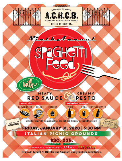 9th Annual A.C.H.C.B. Spaghetti Feed - Fri Jan 31
