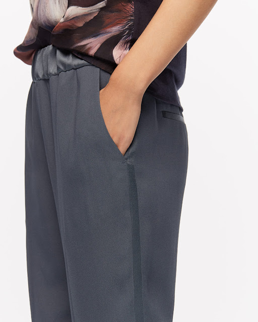 Jigsaw Relaxed Crepe Satin Stripe Trousers