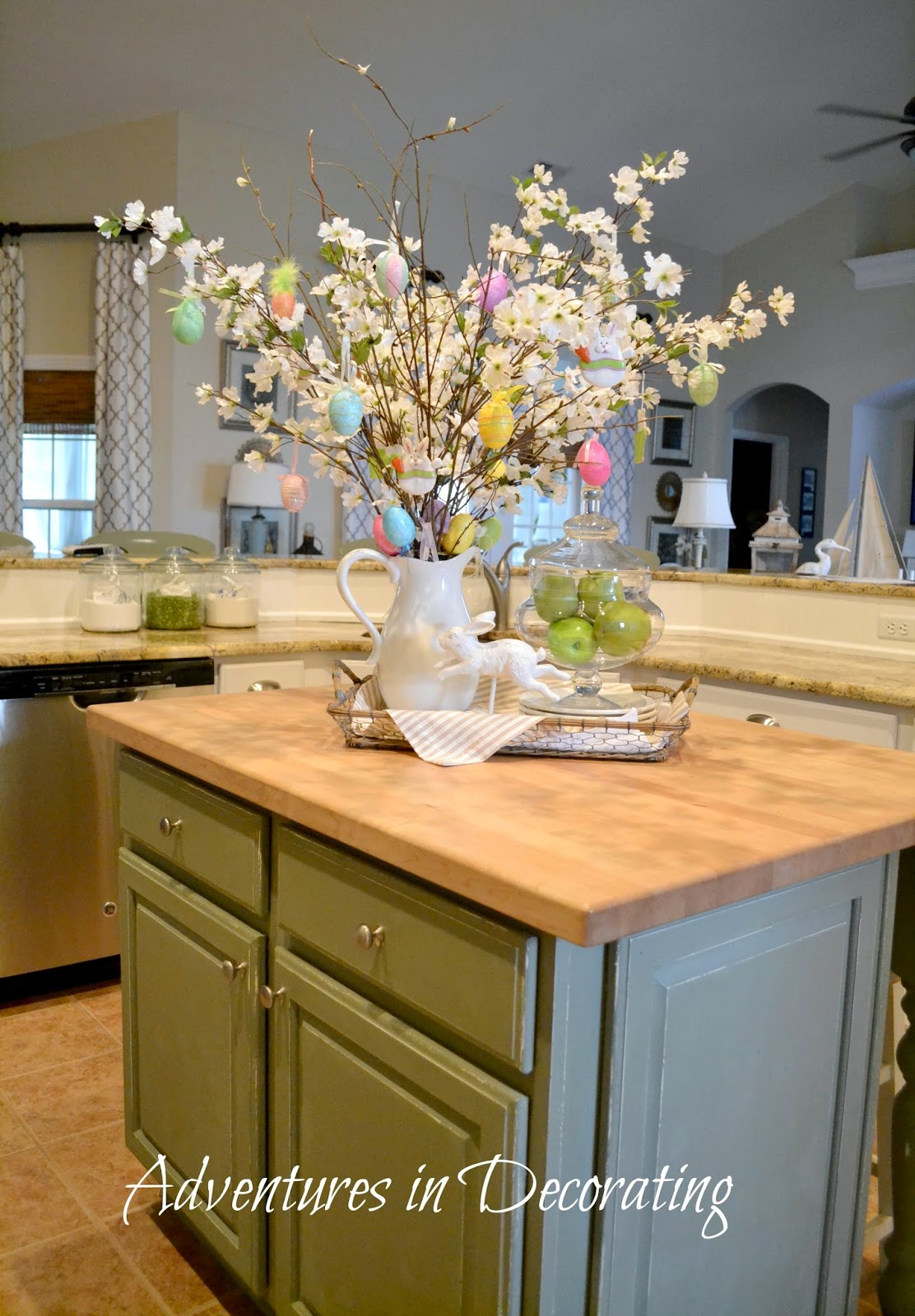 kitchen island centerpieces adventures in decorating an easter vignette 1862