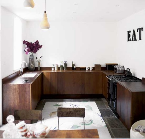 blad: Cocinas sin muebles sobre mesada...