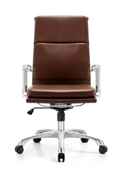 Hendrix Brown Leather Office Chair
