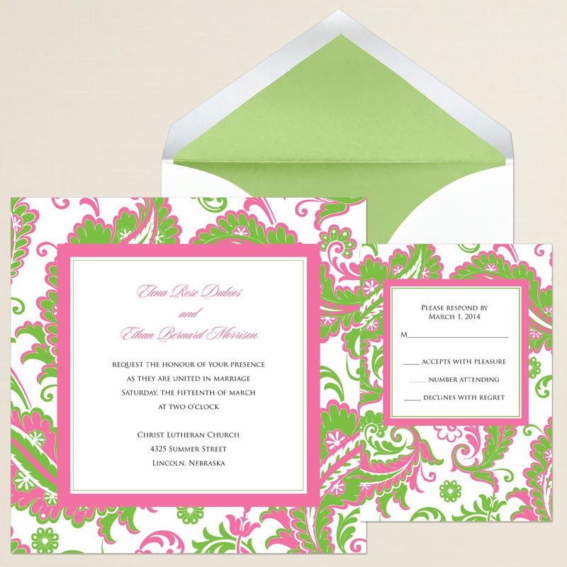 Pink and Green Wedding Theme Ideas