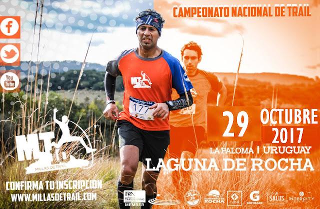 MT10 - 10 millas de trail (8k y 16k) en Laguna de Rocha (próx a La Paloma - Rocha, 29/oct/2017)