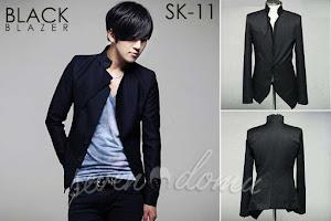 seven domu sk11 black blazer jacket korean style