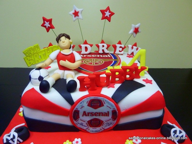 Cakes2Share Singapore Arsenal Football Club 3D Birthday cake for